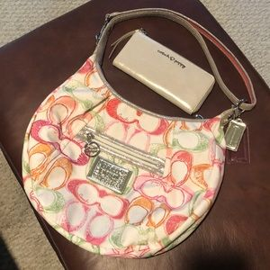 Coach Poppy Signature Scribble Purse